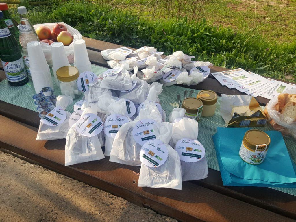 Picknick bei der Agrarproduktion Urbach zur Berufsinformationstour