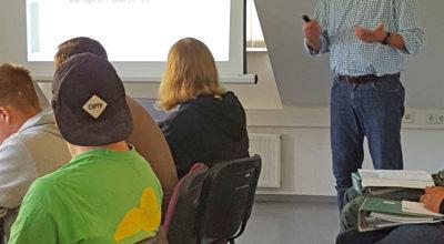 Herr Schmalfuß informiert zum Thema Unfallverhütung und Arbeitsschutz